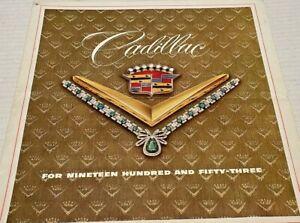 Vintage Cadillac Sales Brochure 1953 Series Sixty Special