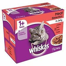 Whiskas 1+ Cat Pouch Meat Selection in Jelly (12Pk) - 193771