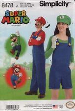 Simplicity Sewing Pattern 8478 Super Mario Costume Men Misses Size XS-XL
