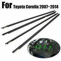 4X Door Weatherstrip Belt Seal Window Moulding Trim For Toyota Corolla 2007-2014