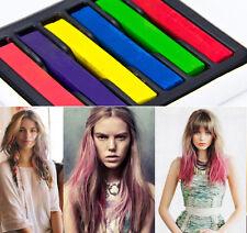 6 Pcs Hair Chalks Wash Out Dye Salon Pastels Multi Colour Hair Styles Rubs On