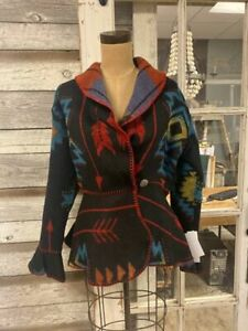Rhonda Stark Designs Blackfoot Flounce Wrap Jacket!!! NWT!!!