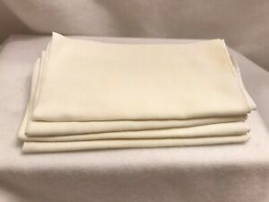 Dinner Table Napkins Kitchen Cotton Cloth Ivory 4 Lot Pack Large 17 x 18.5