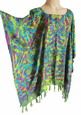 femmes turquoise/VERT/Violet caftan poncho tunique plage grand taille NEUF