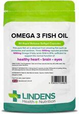 Omega 3 Fish Oil (30% DHA/EPA) 90 Capsules Lindens Health + Nutrition (4982)