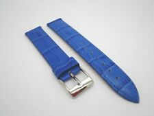 16 mm 16mm Leather Band Strap with Silver Stainless Steel Buckle