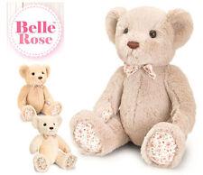 Korimco Belle Rose – Teddy Bear [18cm] Soft Plush Toy – Beige NEW
