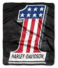 Harley-Davidson #1 Flag 'Topnotch' Biker Throw Blanket, 50 x 60 inch NW949140