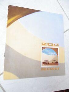 Peugeot 204 Sedan Break 1974 Catalogue Brochure Fold Commercial Prospekt