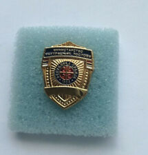 RARE SERBIA POLICE OFFICIAL BADGE PIN FOR CIVIL SUIT MUP SRBIJE 1804  POLICEMAN