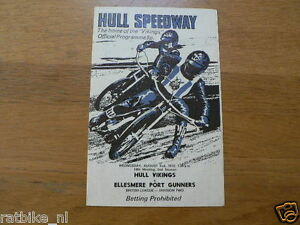 1972 HULL SPEEDWAY V ELLESMERE PORT GUNNERS BRITISH LEAGUE DEV. TWO AUGUST 2SND