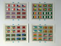 CMAP7a) United Nations New York UNO Flags Series Stamp Sheetlets MUH