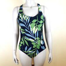 Waterpro Swimwear Women's Size 18 Floral One Piece Swim Suit Padded Shelf Bra
