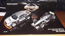 Minichamps 1/43 Set MIKA Hakkinen ( McLaren Mp4-16 & Mercedes CLK Coupe)