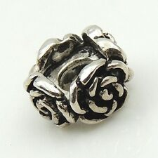 4 Pcs Sterling Silver Charm Rose Vintage DIY Jewelry Making 5X9mm WSP106X4