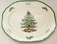 "Spode Oval Christmas Tree Platter 14"" Made in England NIB"