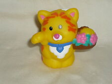 Fisher Price Little People Yellow Wedding Cat Kitten Basket of Flowers