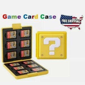 "NintendoSwitch Game Card Case Holder Storage Box Travel Protector ""?"" block!"
