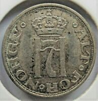 1912 NORWAY, Silver 10 Ore grading VERY FINE.