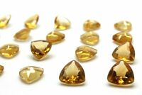 Natural AA Citrine Loose Trillion Quartz Gemstone Wholesale Crystal DIY Jewelry