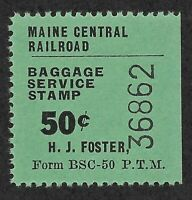 Maine Central Railroad - Baggage Service Stamp - 50 Cents