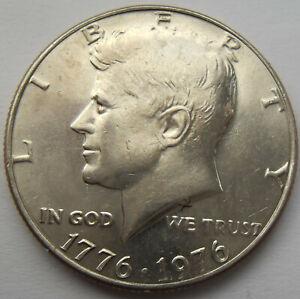 JOHN F KENNEDY Bicentennial Coinage Date 1776 1976 HALF-DOLLAR  Clad.,