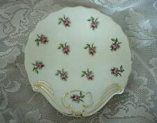 Collectible Vintage Pink Roses/Rosebuds Chintz Shell Shaped Ceramic Soap Dish