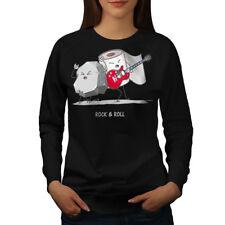 Wellcoda Rock Roll Pun Womens Sweatshirt, Ambiguity Casual Pullover Jumper