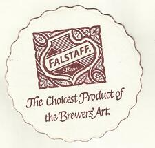 "3-1960's Falstaff Beer Coaster-St.Louis, MO 4"" #040 """"Choicest Product Die cut"