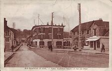 France Ris-Orangis Paris - Place Alphonse-Daudet et Rue du Pont sepia postcard