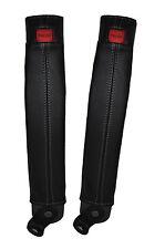 Gris stitch 2x ceinture peau couvre fits TOYOTA LAND CRUISER PRADO lj78 / LJ70