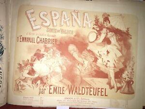 Cheret / L. Denis/ Johann Strauss / Emmanuel Chabrier,  Recueil de Valses  1880