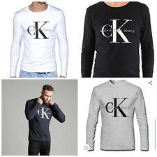 Calvin Klein Men's Long Sleeve Iconic Monogram T-Shirt All Size