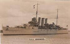 "Royal (Australian)Navy Real Photo . HMS/HMAS ""Shropshire"" Heavy Cruiser. c 1929"