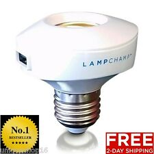 LAMP CHAMP USB SOCKET CHARGER POWER ADAPTER CELL PHONE TABLET BEDROOM LIGHT BULB