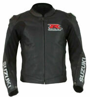 Suzuki GSXR Motorcycle Leather Jacket Sports Motorbike Leather Jackets Black