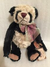 Rare Limited Edition Ganz Cottage Panda Bear by Lorraine Chien Perfect All Tags