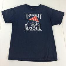 The Salty Dog Cafe T-Shirt Boys Medium 8 Navy Hilton Head Island Short Sleeve