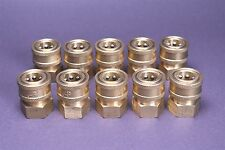 10 Landa Karcher Brass 3/8 Coupler Pressure Washer Quick Connect Female 4000 PSI