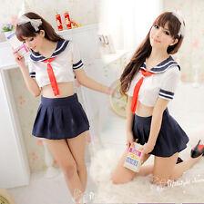Sexy Lingerie School Girls Costume Cosplay Top Fancy Dress Uniform Nightwear