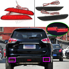 L+R LED Rear Bumper Brake Light For Nissan X-trail Qashqai R52 Leaf Infiniti Q50