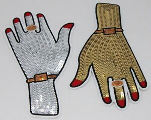 Gold/Silver Adorned Hand: Sequin and Embroidery Patch