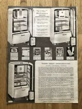 VINTAGE FRIDGES & CLOTHES WASHERS ADVERTISING PAGE FROM SIMPSON'S CATALOGUE