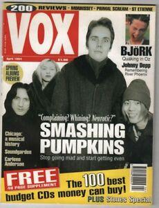 VOX Music Magazine Smashing Pumpkins Morrissey April 1994 100520nonr