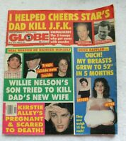 THE GLOBE vintage tabloid newspaper 1992 Willie Nelson Woody Harrelson JFK