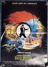 Original 1987 Czech film poster The Living Daylights James Bond 007 RARE! SALE