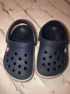 Crocs Crocband Clog Blue/White 5 Boys Size