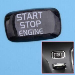 Carbon Fiber Engine Start Stop Button Cover Trim Fit For Volvo V40 S60 XC60 S80L