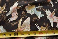 """31"""" Long, Colorful Fairies on Brown Quilt Cotton, Hoffman/""""Fairy Briar"""", N2783"""