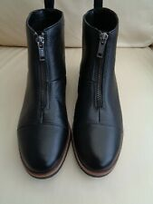 FAB LADIES BLACK LEATHER ZIP ANKLE BOOTS CLARKS SIZE 4 WORN ONCE